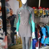 Baju renang specs original Mimosa hijab swimsuit DK grey Specs Active