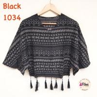 Atasan Batwing / Baju Etnik / Boho style / bohemian baju tassel BLACK
