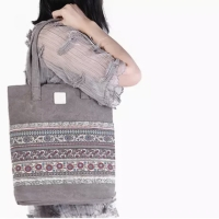 PANACHE Casual Premium Canvas Tote Bag Tas Kanvas Shoulder Bag