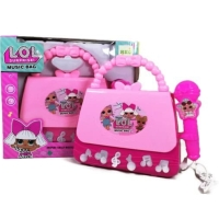 Mainan Anak Microphone Music Bag LOL SURPRISE Tas Koper Mic