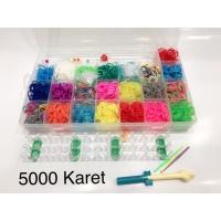 PAKET ALAT Rainbow Loom Bands - Starter Kit termasuk 4400pcs karet