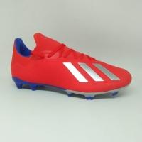 Sepatu bola adidas original X18.3 FG red blue silver new 2019