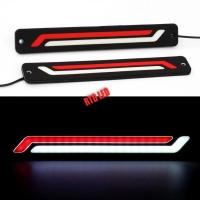 Lampu Drl Led Mobil Red White Dua Strip 1 Set 2 Pcs R084
