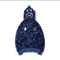HOODIE BAPE X PSG BLUE NAVY CAMO SHARK MIRROR 1:1 ORIGINAL