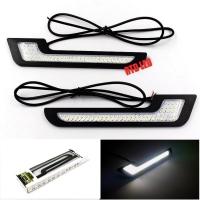Drl led Mobil Cahaya Putih 1 Set 2 Pcs Led Lampu Bumper Mobil R082