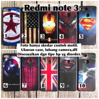 Softcase man case xiaomi redmi note 3 marvel avenger captain iron usa