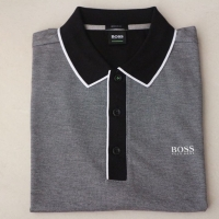 Hugo Boss Polo Shirt Black Grey (satu warna saja)