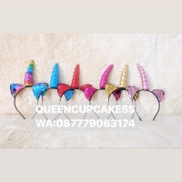 bando unicorn kuping glitter berubah warna warni