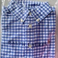 Oxford shirt/kemeja anak laki/kotak-kotak Stripe/Polo Ralph Lauren ORI