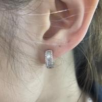 Anting jepit berlian - 100% asli