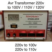 Avr transformer perubah step down 220v-100v, 220v to 110v 220v to 120v
