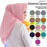Jilbab Hijab Segi Empat Polos Bahan Diamond Crepe Premium