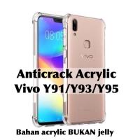 Anticrack case acrylic bening TPU vivo Y91 Y93 Y95