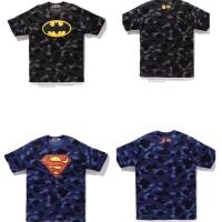 Kaos Bape x DC Superhero tee
