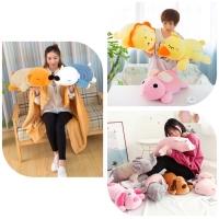 Boneka bantal selimut ANIMAL, Balmut hewan Gajah, singa & Friends