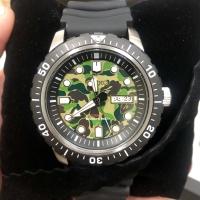 Seiko x Bape Mechanical watch second