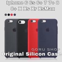 Case original silicon apple iphone 6 6s + 7 8 plus hard soft casing