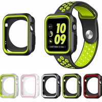 Case nike apple watch iwatch soft bumper series 1 2 3 cover 38 42 mm