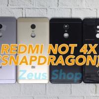 Backdoor Tutupan Baterai Back Casing Xiaomi Redmi Note 4X SnapDragon - Hitam