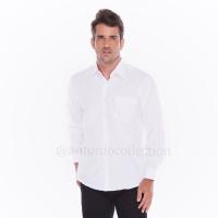 Kemeja Pria Putih Polos Lengan Panjang / Seragam Baju Lapangan Kantor