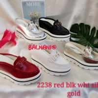 Sandal wedges bustong BALNANI impor 2238