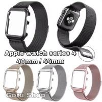 Hard case metal strap milanese apple watch iwatch series 4 40 / 44 mm