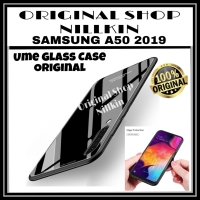 SAMSUNG GALAXY A50 A505 UME TEMPERED GLASS COLOR SOFT HARD BACK CASE