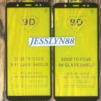 TEMPERED GLASS ANTI GORES KACA 5D SAMSUNG J8 FULL LEM FULL KACA