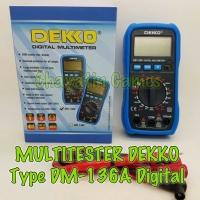 MULTITESTER / AVOMETER / TESTER DIGITAL Merk DEKKO Type DM 136A