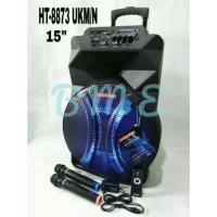 SUPER MURAH Speaker Portable Meeting Wireless Asatron HT 8873 15inch