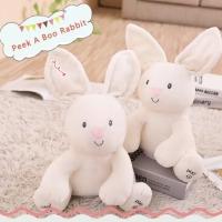 Boneka Rabbit Peek a boo , Bunny Gerak Telinga Dengan Musik,Soft Bunny