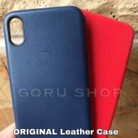 Leather case iphone X Xs max Xr 7 8 plus casing kulit original apple