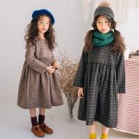 0001 Baju import korea dress winter musim dingin anak perempuan tebal