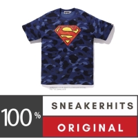 Bape x DC Superman Color Camo Tee Navy Baju Bape Authentic Baju Anak