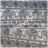 Kain Kanvas gajah thailand bahan canvas meteran etnik elephant tribal