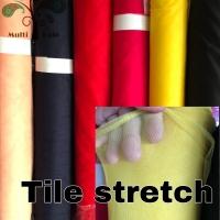 bahan kain tile / tille / tule polos stretch/ spandex tinggi 1,5 meter