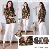 Kemeja Army Loreng New Trend Baju Wanita Shirt - SBT