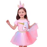 Setelan unicorn tutu import / baju unicorn anak perempuan
