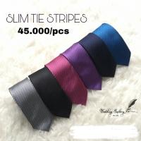 SALE! Slim tie dasi panjang pria ready stok hitam navy biru silver dll