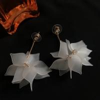 White Flower Bloom Earring