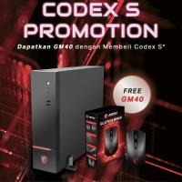 MSI Gaming pc Codex S Intel i5 9400F | 8GB | 1TB | GTX1050ti - 4GB