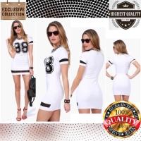 Dress Mini Casual Bodycon Pakaian Wanita Stretch Korean Impor (AF D 47