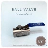 """Kran Air SS / Ball Valve Stainless Steel 1/2"""""""
