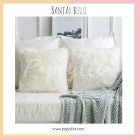 Sarung Bantal Bulu / Sarung Sofa Tamu Ukuran 40x40 cm