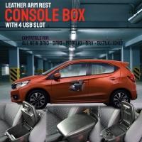 Consul Box Arm Rest + USB Charger 4 Slot Honda BRIO BRV MOBILIO