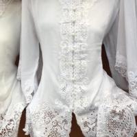 Kebaya Modern Warna White Lengan 3/4 Size S - XL