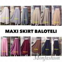 Rok Muslimah Baloteli / Maxi Skirt / Rok Polos / Rok Panjang