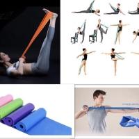 PANACHE Elastic Latex Long Resistance Band for Yoga Gym Pilate Fitness