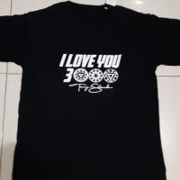 BAJU KAOS TSHIRT I LOVE YOU 3000 TONY STARK PREMIUM QUALITY