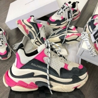 Sepatu balenciaga - sneakers ca - balenciaga triple s  white pink